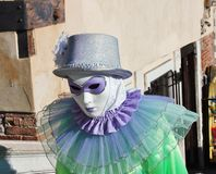 маска Венецианск-стиля, масленица Венеции одно из самого известного в мире, свое характерное маски, созданные к reli стоковые фотографии rf