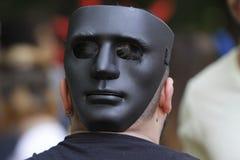 Маска вендетты, анонимная, хулиганье Стоковые Фотографии RF