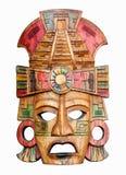 Маска высекаенная рукой деревянная майяская Стоковое фото RF