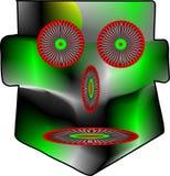 Маска в зеленом цвете иллюстрация штока