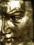 маска Давида золотистая стоковое изображение rf