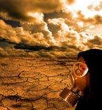 маска девушки газа стоковые изображения rf