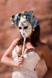 маска девушки масленицы сексуальная Стоковое Изображение RF