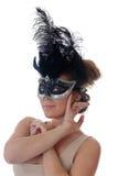 маска девушки масленицы Стоковые Фотографии RF