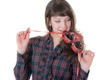 маска девушки масленицы Стоковые Изображения RF