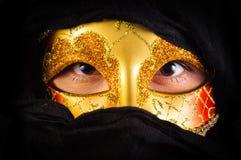 маска девушки масленицы Стоковая Фотография RF