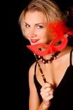 маска девушки масленицы Стоковые Фото