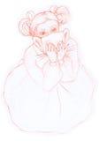 маска девушки Стоковые Фото