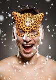 Маска леопарда праздника Стоковое Изображение