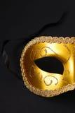 маска золота масленицы Стоковые Изображения RF