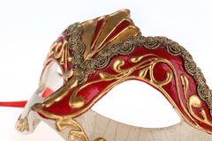 маска изолированная масленицей venetian Стоковое Изображение RF