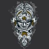 маска иллюстрации злая иллюстрация вектора