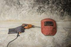 Маска и сверло заварки Стоковые Фото