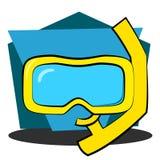 Маска и шноркель акваланга Стоковые Изображения RF