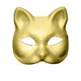 Маска кота золота Стоковая Фотография RF