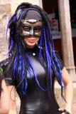 маска красивейшей девушки готская Стоковая Фотография RF