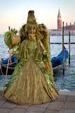 Маска масленицы в Венеции, Италии Стоковые Изображения RF