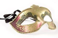 маска масленицы над белизной Стоковое Фото
