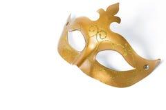 маска масленицы золотистая Стоковые Изображения RF