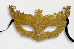 маска масленицы золотистая Стоковое фото RF
