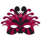 маска масленицы серая изолированная также вектор иллюстрации притяжки corel Рисовать вручную Стоковые Фото