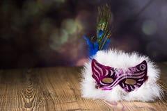 маска масленицы серая изолированная Стоковое Фото