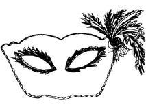 маска масленицы серая изолированная Стоковое Изображение RF