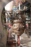 Маска металла в переулке Стоковое фото RF