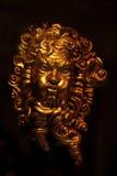 маска предпосылки черная золотистая Стоковые Фото