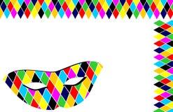 маска предпосылки arlecchino Стоковые Изображения RF