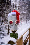 Маска противогаза в зиме Стоковое Изображение