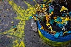 Маска противогаза на Киеве Стоковая Фотография