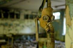 Маска противогаза смертной казни через повешение - школа в Pripyat Стоковое Изображение RF