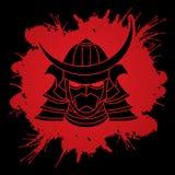 Маска ратника самураев иллюстрация вектора