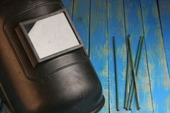 Маска для электрической сварки Стоковое Фото