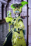Маска Carneval в Венеции - венецианском костюме Стоковые Изображения