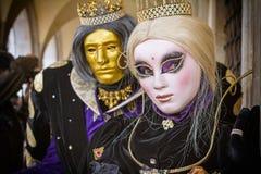 Маска Carneval в Венеции - венецианском костюме Стоковые Изображения RF