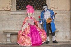 Маска Carneval в Венеции - венецианском костюме Стоковые Фотографии RF