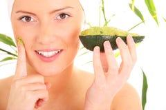 маска facial авокадоа Стоковые Фото