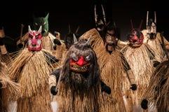 Маска Namahage, японская традиционная гигантская маска, Акита, Tohoku J Стоковая Фотография RF