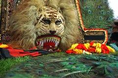 Маска Singo Barong, форма Индонезия маски Traditioanal Стоковая Фотография RF