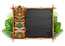 Маска Tiki и рамка бамбука бесплатная иллюстрация