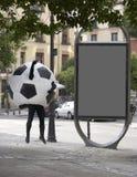 Маскировка шарика футбола Стоковое Изображение RF