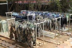 Маскировочная одежда засыхания Стоковое Изображение RF