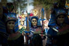 Маски древнего египета в параде масленицы стоковая фотография