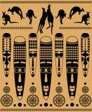 Маски и кенгуру иллюстрация штока