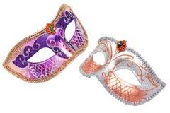 2 маски масленицы венецианских Стоковые Изображения RF