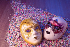 маски праздника потехи масленицы стоковая фотография rf