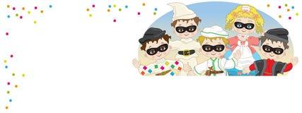 маски праздника потехи масленицы Стоковые Фотографии RF