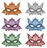 Маски фантазии в других цветах Стоковые Фотографии RF